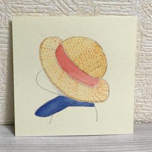 原画『麦わら帽子』
