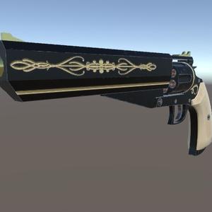 【3Dモデル】8inch 357Mag Revolver