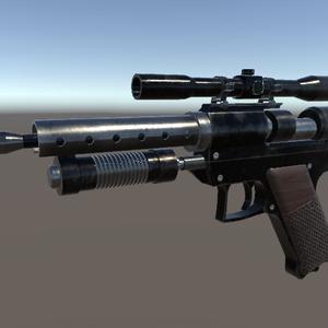 【3Dモデル】WR-18 Light Blaster Pistol