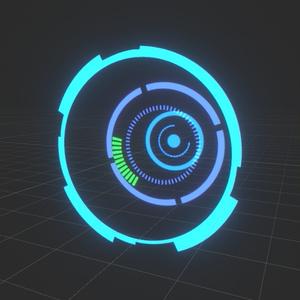 【Unity】Parallax HUD Shader テクスチャ素材付き