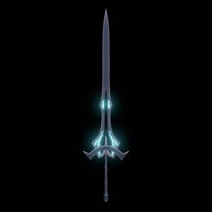 【3Dモデル】黒曜石の剣