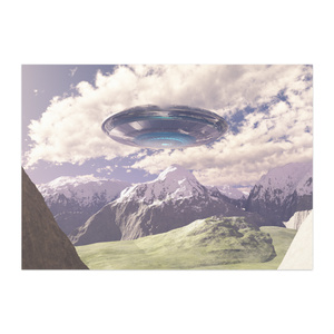 UFO風景ポスター