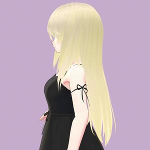 【VRoid】前髪長めロングヘア【ヘアプリセット】
