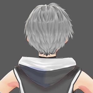 【VRoid】外ハネショート2(男性用)【ヘアプリセット】