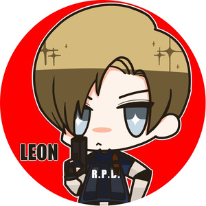 レオン&クレア 缶バッチ
