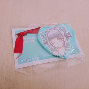 幸子のハート缶バッジ