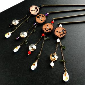 廻る歯車桜とスワロの雫かんざし(全4色)