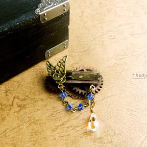 【期間限定】廻る歯車★星廻のブローチ(全5色)スワロフスキー・クリスタル使用