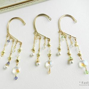 五芒星とヘキサゴンスワロのイヤーフック(全3色)[受注制作]