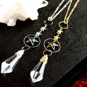トリプルスターのペンデュラム★Swarovski crystal [受注制作]