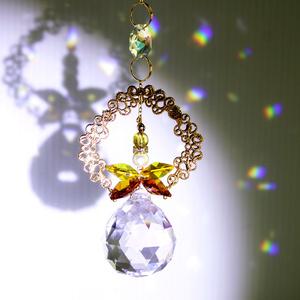 ~華の天使サンキャッチャー~ (全5色)Swarovski crystal & Asfour crystal[受注制作]