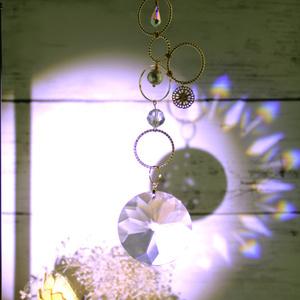 金環のサンキャッチャーSwarovski crystal使用(受注制作)