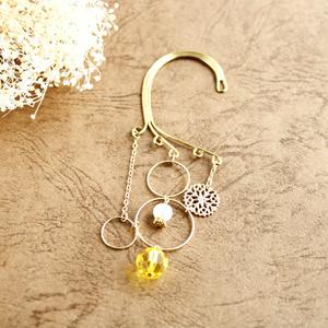 金環のイヤーフック 全6色(Swarovski Crystal使用)