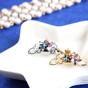 星空のイヤーカフ:金&銀(Swarovski crystal使用)