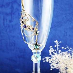 流れ星~shooting star~イヤーフック 金(Swarovski Crystal使用)