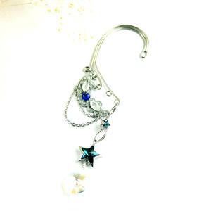 流れ星~shooting star~イヤーフック 銀(Swarovski Crystal使用)