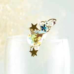 星の雫イヤーカフ(スワロフスキー・クリスタル使用)