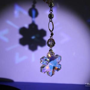 雪と結晶のサンキャッチャー ☆ スワロフスキー・クリスタル使用  Radiant