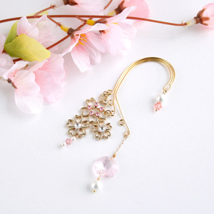 舞桜のイヤーフック Ver2★全5色 (Swarovski crystal使用)