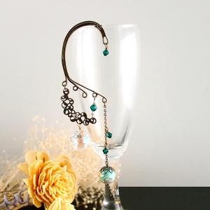 明鏡のイヤーフック (Swarovski crystal使用)