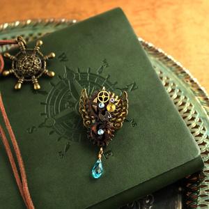 廻る歯車★眩耀の紋章ブローチ(全5種)Swarovski crystal使用  Radiantスチームパンク