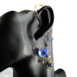 遊星のイヤーフック(全2色)☆Swarovski Crystal 使用