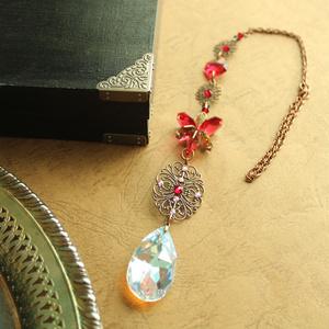 【1点もの】ゴシック調 紅のサンキャッチャー ☆ Swarovski Crystal使用 Radiant