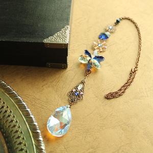【1点もの】ゴシック調 藍のサンキャッチャー ☆ Swarovski Crystal使用 Radiant