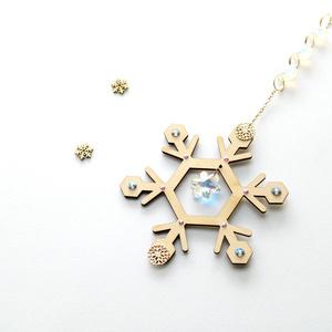 【数量限定】~雪の結晶~ 六華のサンキャッチャー ☆ Swarovski Crystal使用  Radiant