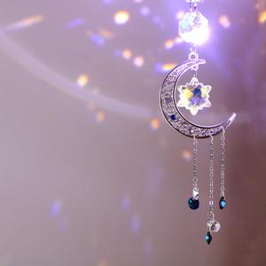 三日月と雪のサンキャッチャー ☆ Swarovski Crystal使用 [数量限定]