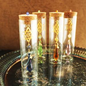 【web限定】置くだけでキラキラ♪六芒星の小瓶サンキャッチャー(全4色)<Swarovski Crystal使用>