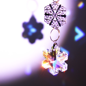 【希少】天使の囁き~細氷のサンキャッチャー ☆ Swarovski Crystal使用