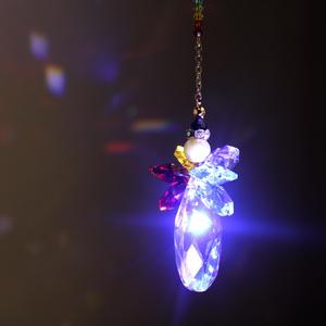 チャクラの天使サンキャッチャー ☆ Swarovski Crystal使用 [受注制作]