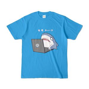 在宅シャークTシャツ(青)