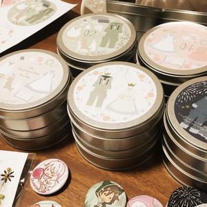 セトマリイメージ缶小物入れ 5種セット(送料込み)