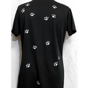 (La-L)プリントドライTシャツ「MADCAT」白猫(1-198)