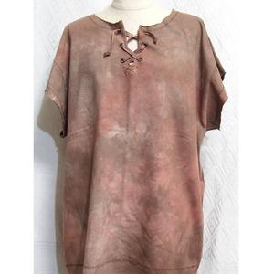 手染め一点もの「あの布の服」Lv2(赤茶系)ファンタジーシャツ(1-213,214,215)