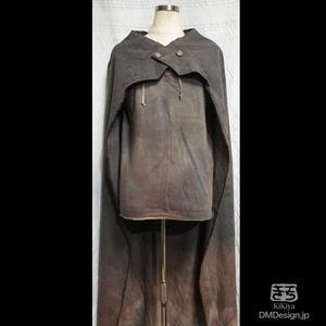 (小)手染め一点ものファンタジーウェア「あの服」」(グレー系)(1-090)