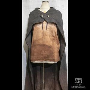 (小)手染め一点ものファンタジーウェア「あの服」」(茶グラデ系)(1-229)