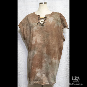 (XL相当)手染め一点ものファンタジーウェア「あの服」(茶系)(1-293)