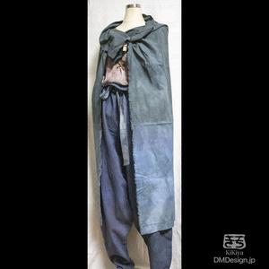 (L相当)手染め一点ものファンタジーウェア「あの服」(青系)(1-291)