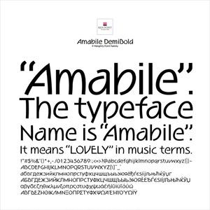Amabile DemiBold