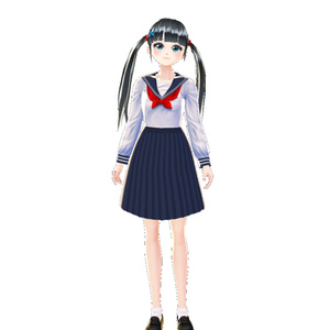 【Vroid用衣装テクスチャ】 セーラー服 長袖合服 Sailor suit 세라복 水手服