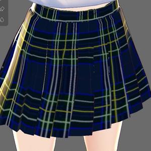 【VRoid用テクスチャー】 タータンチェックのプリーツスカート4色8パターン 『制服スカート』用Tartan check格子呢檢查타탄 체크