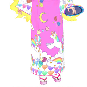 【VRoid用】 ゆめかわ着物  リボン用テクスチャ- ☆着物 和服 和装 kimono ribbon texture 柔和的顏色 pastel colour 기모노 파스텔 色帶 質地