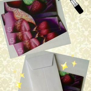 ◆甘くない果実シリーズ◆苺柄メッセージカード3枚組(封筒付)