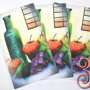 ◆静物画調メッセージカード3枚組◆(封筒付)