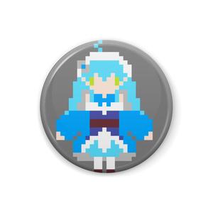 【非公式】雪花ラミィ ドット絵缶バッジ【ホロライブ】