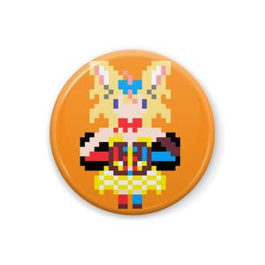 【非公式】尾丸ポルカ ドット絵缶バッジ【ホロライブ】