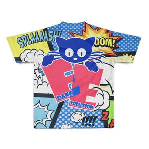 アメコミ風Tシャツ ブルー